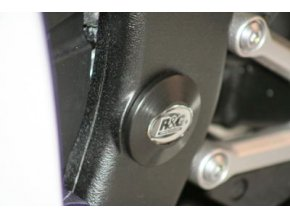 Zátka do rámu, dolní, levá - Yamaha YZF-R6 '06-'08, černá