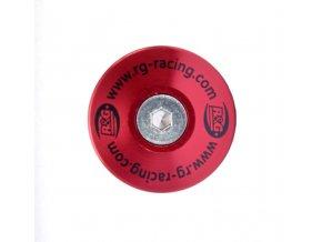 Zátka do rámu, červený hliník, levá nebo pravá, Ducati Hypermotard 820 / Hyperstrada 820